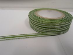 Olive Green pencil stripe ribbon 2 metres or full roll (25 metres) 5mm 10mm double sided